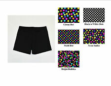 "VOLLEYBALL EXERCISE COMPRESSION SHORTS POLKA DOTS WOMENS 3"",4"", 6"" INSEAM NWOT"