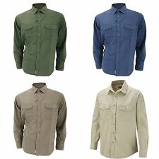 (Free PnP) Craghoppers Mens Kiwi Long Sleeve Casual Shirt 3 Colours Sizes S-2XL