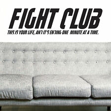 FIGHT CLUB, LARGE WALL STICKER, Life,  Decal, WallArt, SS749