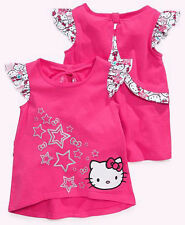 NEW SANRIO HELLO KITTY GLITTERY STAR GRAPHIC TOP TEE SIZE 2T 3T