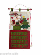 CHRISTMAS Hanging Advent Calendar - Fabric - Door Wall - 75cm Long - Decoration