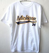 MICHIGAN WOLVERINES NCAA MEN'S WHITE T-SHIRT S M L XL