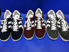 Mossimo Mens Suede Sneakers Tennis Athletic Shoes Sneakers Burgundy Blue Gray