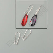 Wholesale DIY Jewelry Findings Silver Pinch Bail Arabesquitic Ear Hook For Stone