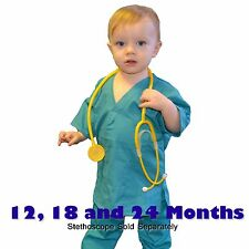 Toddler Scrubs Set REAL Teal Green Childrens Doctor and Nurse Kids Scrub Sets