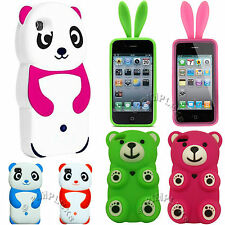 CUTE HUMOROUS FUNNY 3D BEAR PANDA BUNNY SOFT SILICONE ANIMAL SKIN COVER CASE