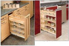 Rev-A-Shelf Wood Pull Out Base Organizers Storage System Spice Rack