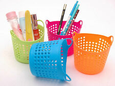 1PCS Small Useful Mini Desk Plastic Organizer Decor Stationery Storage Basket