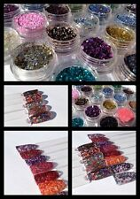 Solvent Resistant RAW Nail Art Glitters suitable for all Nail Art Nail Polish
