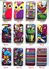 Various Cute Owl Abstract Painting Skin Case Cover For Samsung Galaxy Ace s5830
