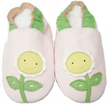 New Soft Leather Baby Girls Shoes 0-6, 6-12, 12-18, 18-24 Months Happy Daisy