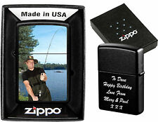 ZIPPO LIGHTER PERSONALISED  DOUBLE SIDE PRINTED !!  PHOTO & TEXT BIRTHDAY GIFT 2