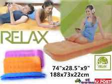Jilong Deluxe Single Flocked Mattress Single Air Bed Camping Bed Inflatable Bed