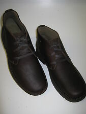 CLARKS MENS SENNER RISE  CASUAL LACE UP ANKLE BOOT IN DARK BROWN LEATHER