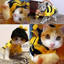 Pet Dog Cat Clothes Coat Puppy Rabbit Polar Fleece Hoodie Outfits Bee Style HOT