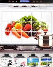 Kitchen Decor oil Proof High Temperature Aluminum Foil Wall Sticker Paper Cover