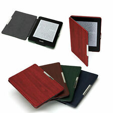 WOOD PATTERN PU LEATHER SMART CASE COVER FOR NEW AMAZON KINDLE PAPERWHITE 2 + SP