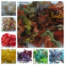 Dyed Curly Wool, Curly Locks - For wet and needle felting