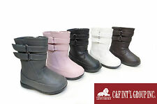 NEW BABY GIRLS' CUTE WINTER CASUAL DRESS BOOTS 5 COLORS INFANT TODDLER SIZE 4-8