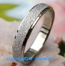 Lady Elegant Galaxy Stardust Stainless Steel Wedding Band Ring Size 5.5,6.5,8,9