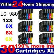 30 ink cartridges LC980 LC1100 Compatible for Brother DCP & MFC Printers