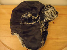 BNWT Boys Trapper Hat with Faux Fur Trim Age 2-4, 4-6 Years *FREE P&P*