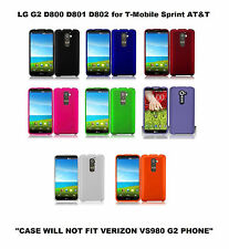 T-Mobile Sprint AT&T Rubberized Hard Phone Cover LG Optimus G2 D800 D801 D802