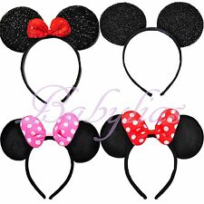 Mickey Minnie Mouse Headband Bows Favors Ears Birthday Party Supplies Kids Gifts