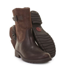 WOMENS CAMPER 1900  LAND BROWN LEATHER BIKER CASUAL ANKLE BOOTS LADIES SIZE 3-8