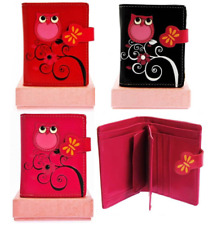 GIFT BOXED FAUX LEATHER TAWNY OWL PURSE IN RED PINK OR BLACK # 105S