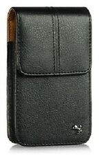 New Black Vertical Leather Pouch Holster Belt Clip Carrying Case for Cell Phones