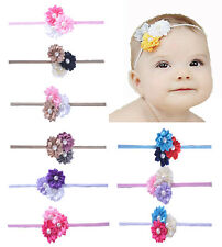 Hairband Baby Girl Accessories Headband Satin Pearl Daisy Band Flower Girl Gift