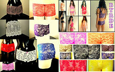 From 99p BYRDE French Lace PREMIUM FLORAL Knickers/ Boxers/ Briefs/ Boyshorts