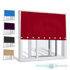 Square Eyelet Roller Window Blinds Children's Kids Curtains Trimmable to Size
