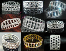 Lots Brand New Beautiful Fancy Stretchy Crystal Rhinestone Bracelets More Styles