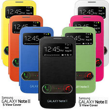 FLIP HARD CASE S-VIEW COVER FOR SAMSUNG GALAXY NOTE 2 II GT N7100 N7105