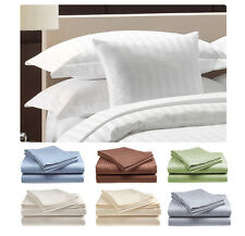 : 1000TC EXTRA DEEP POCKET SHEET SET 100%EGYPTIAN COTTON STRIPE PATTERN UK SIZE