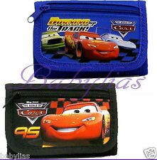 Disney Cars / Black / Blue Tri-Fold Wallet / Official Licensed Boys