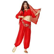 Belly Dance Costume Lanterns Sleeves Top+Shinny Bloomers trousers Harem Pants