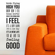 FEELING GOOD, LARGE WALL STICKER, Michael Bublé, Decal, WallArt, SS1195