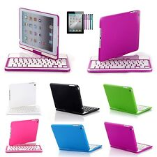 360 Swivel Rotating Stand Case Cover with Bluetooth Keyboard For Apple iPad Mini