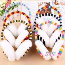 Rainbow stripe Earmuffs Ear warmer Earlap Warm Ear Muffs Headband Winter U Pick