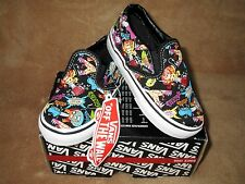 NEW VANS GUITAR MONSTER CLASSIC SLIP-ON SHOE BLK/WHT TODDLER SZ  9.5