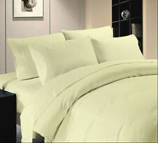 WHOLESALE PRICE HOTEL BRAND IVORY COLOR 1000TC COTTON COMPLETE UK BEDDING