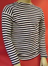 Soviet Russian NAVY TELNYASHKA ShipFromUSA Black STRIPED SHIRT HiQual 100%Cotton