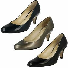 Ladies Van Dal Court Shoes In Black Or Navy Leather 'Holt'