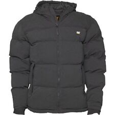 CATERPILLAR MENS PUFFA COAT HOODED WINTER WARM QUILTED JACKET BLACK M-2XL NEW