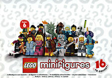 Series 6 LEGO Minifigures CHOOSE your own Mini Figure! NEW in packet