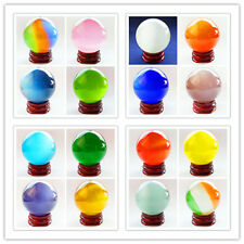 Mixed Color Cat's Eye Crystal Ball Orb Sphere 35mm,40mm,50mm,60mm Mayan-210