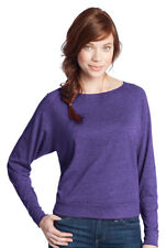 District Juniors Textured Wide Neck Long Sleeve Raglan T-Shirt. DT272